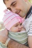 Vater mit seiner Tochter stockbilder