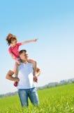 Vater mit seiner Tochter lizenzfreie stockfotografie