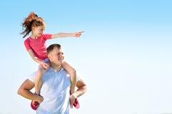 Vater mit seiner Tochter Stockfotos