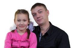 Vater mit seiner Tochter Lizenzfreies Stockbild