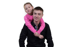 Vater mit seiner Tochter Lizenzfreie Stockbilder