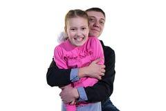 Vater mit seiner Tochter Lizenzfreie Stockfotos