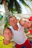 Vater mit Teenager Lizenzfreie Stockfotos
