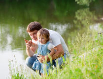 Vater mit Tochter Lizenzfreies Stockbild
