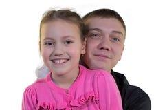 Vater mit Tochter Stockfotografie