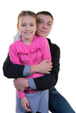 Vater mit Tochter Lizenzfreie Stockfotografie