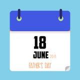 Vater ` s Tageskalendertag Lizenzfreies Stockbild
