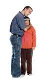 Vater-Tochter getrennt auf Weiß Lizenzfreies Stockbild