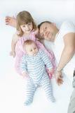 Vater und Kinder Lizenzfreies Stockbild