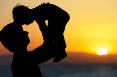 Vater und kleiner Sohn Stockfotos
