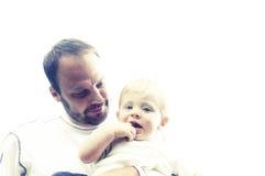 Vater und Säuglingssohn Stockfotos