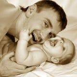Vater und Schätzchen Stockbild