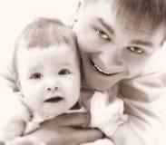 Vater und Schätzchen Stockfotos