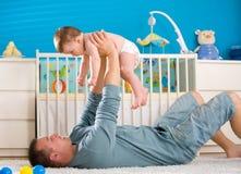 Vater und Schätzchen Stockfoto