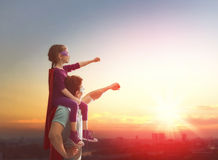 Vater und seine Tochter Lizenzfreie Stockfotos
