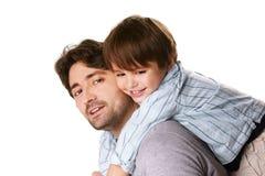 Vater und Sohn stockbilder