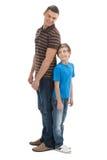 Vater und Sohn. lizenzfreie stockfotografie