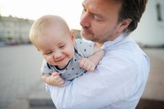Vater und Sohn Lizenzfreies Stockbild