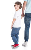 Vater und Sohn Stockbild