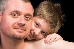 Vater und Sohn lizenzfreie stockfotos