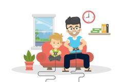 Vater und Sohn lizenzfreie abbildung