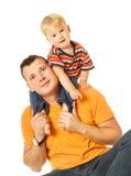 Vater und Sohn, die Spaß haben Stockfotografie