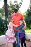 Vater und Töchter Stockfotografie