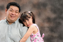 Vater und Tochter lizenzfreie stockfotos