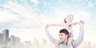 Vater und Tochter Lizenzfreies Stockbild