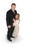 Vater und Tochter stockbilder