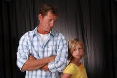 Vater und Tochter Stockfoto