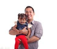Vater und Tochter Lizenzfreie Stockfotografie