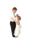 Vater-und Tochter-Tanz stockfoto