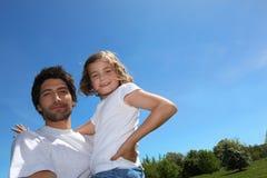 Vater- und Tochtermasseverbinder stockfotografie