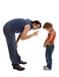 Vater unterrichtet seine Tochter Lizenzfreie Stockbilder