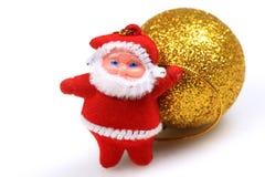 Vater-WeihnachtsTeddybär Lizenzfreies Stockfoto