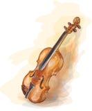 vatercolor stylowy skrzypce Zdjęcia Royalty Free