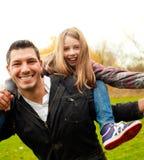 Vaterkind im Freien Lizenzfreie Stockfotos