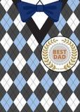 Vatertag auf argyle Hintergrund Stockbild
