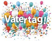 Vatertag Balloons Confetti Royalty Free Stock Photography
