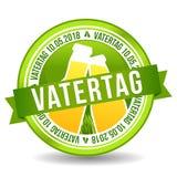 Vatertag 10 Bandeira da Web de Mai Button Feiertag ilustração do vetor