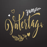 Vatertag father day greeting card with floral leaves pattern. Royalty Free Stock Photos