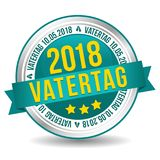 Vatertag am 10. Mai Siegel Banner Button. Eps10 Vector. Father`s Day Badge Royalty Free Stock Image