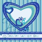 Vatertags-Grußkarte Stockbild