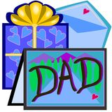 Vatertagskarte Stockfoto