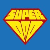 Vatertagskarte für Vati Supervatischild Stockfoto