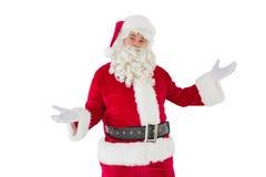 Vaterweihnachten mit seinem teilt aus Lizenzfreie Stockfotografie