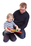 Vather and son playing Stock Photography
