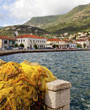Vathi bay of Ithaki island in Greece Royalty Free Stock Photos