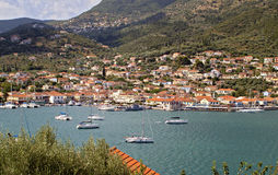 Vathi bay of Ithaki island in Greece Royalty Free Stock Image